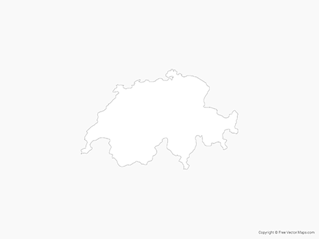 Free Vector Map of Switzerland - Outline