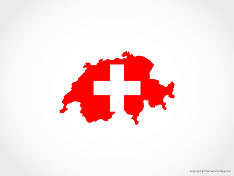 Free Vector Map of Switzerland - Flag