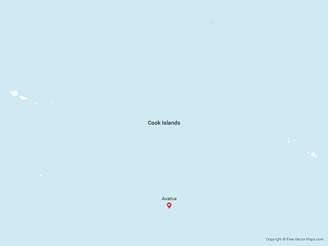 Free Vector Map of Cook Islands