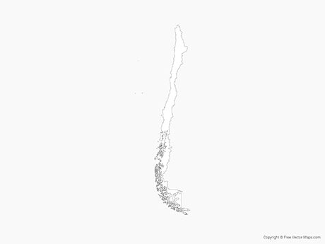 Free Vector Map of Chile - Outline