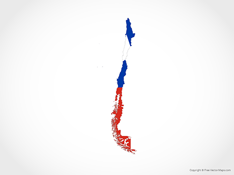 Free Vector Map of Chile - Flag