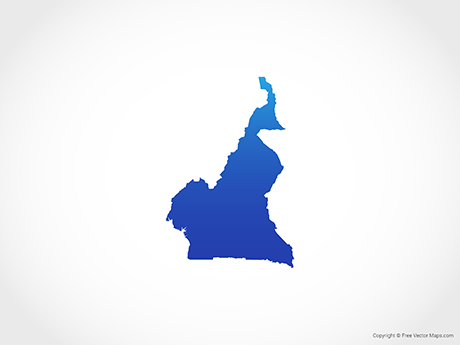 Free Vector Map of Cameroon - Blue