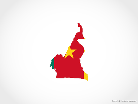 Free Vector Map of Cameroon - Flag