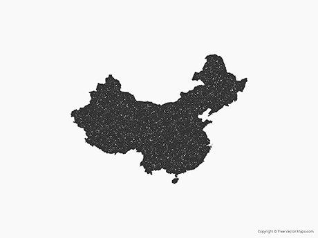 Free Vector Map of China - Stamp