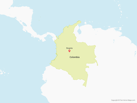 Free Vector Map of Colombia