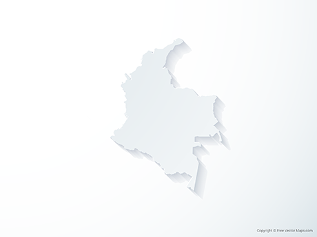 Free Vector Map of Colombia - 3D