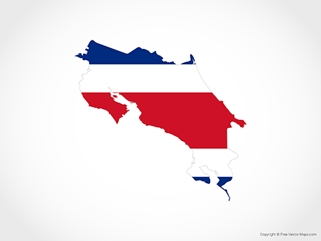 Free Vector Map of Costa Rica - Flag