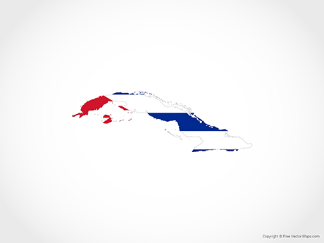 Free Vector Map of Cuba - Flag