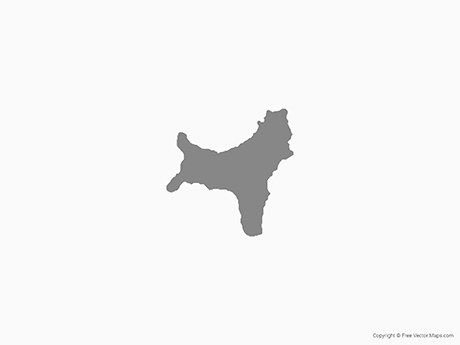 Free Vector Map of Christmas Island - Single Color