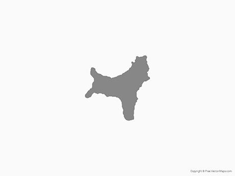 Map of Christmas Island - Single Color