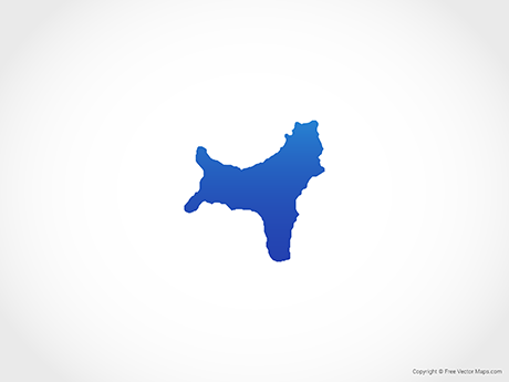 Free Vector Map of Christmas Island - Blue