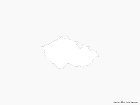 Free Vector Map of Czech Republic - Outline