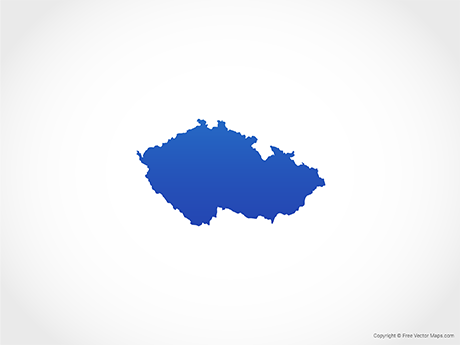Free Vector Map of Czech Republic - Blue