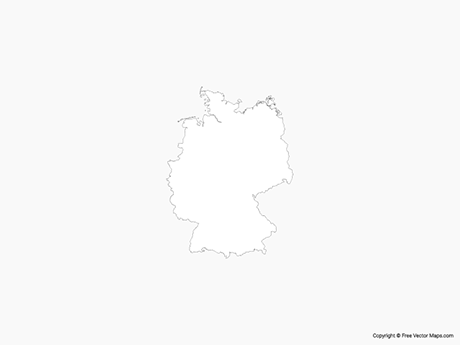 Free Vector Map of Germany - Outline