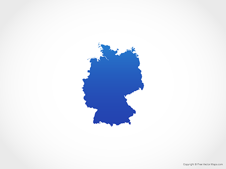 Free Vector Map of Germany - Blue