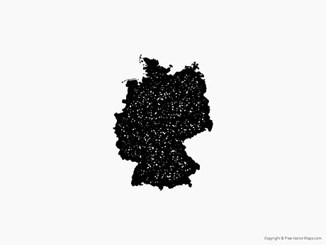Free Vector Map of Germany - Stamp