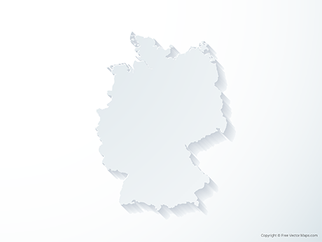 Free Vector Map of Germany - 3D