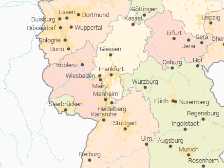 Vector Map of Germany with States - Multicolor