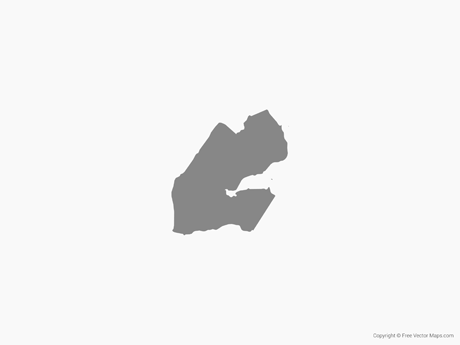Free Vector Map of Djibouti - Single Color