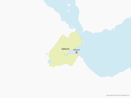 Free Vector Map of Djibouti