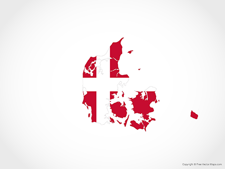Free Vector Map of Denmark - Flag