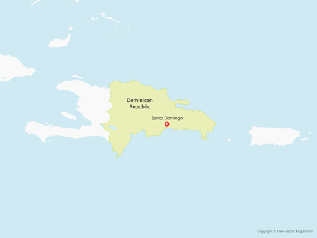 Vector Map of Dominican Republic | Free Vector Maps on veracruz on a map, ambergris caye on a map, bogotá on a map, st. augustine on a map, kiel canal on a map, ciudad de mexico on a map, cancún on a map, windhoek on a map, sao paulo on a map, maputo on a map, bucaramanga on a map, san juan del sur on a map, mar del plata on a map, majuro on a map, san paulo on a map, calbuco on a map, hermosillo on a map, havana on a map, san pedro sula on a map, salta on a map,