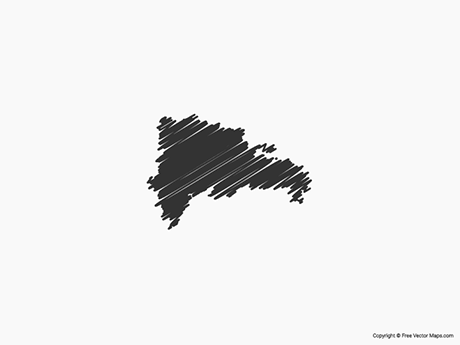 Free Vector Map of Dominican Republic - Sketch