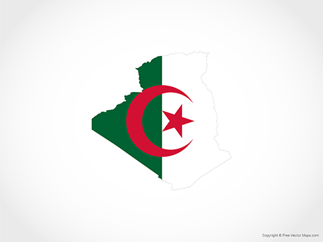 Free Vector Map of Algeria - Flag