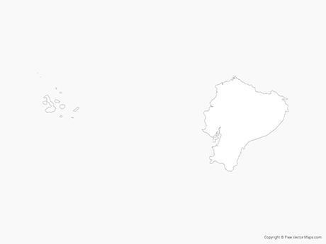 Free Vector Map of Ecuador - Outline