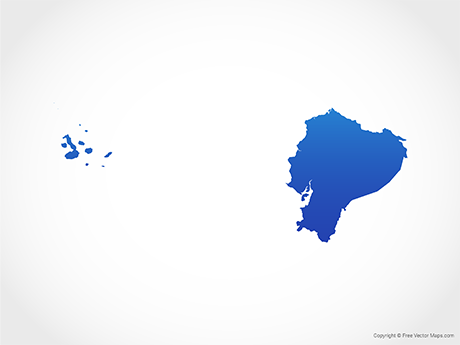 Free Vector Map of Ecuador - Blue