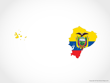 Free Vector Map of Ecuador - Flag