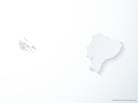 Free Vector Map of Ecuador - 3D