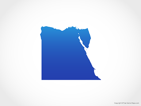 Free Vector Map of Egypt - Blue