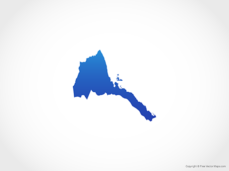 Free Vector Map of Eritrea - Blue