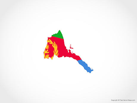 Free Vector Map of Eritrea - Flag