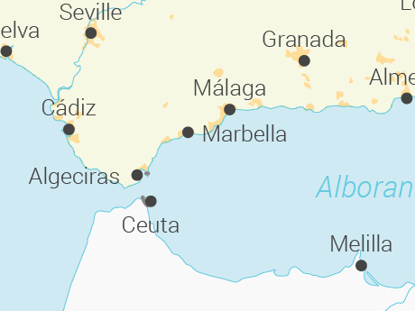 Vector Map of Spain with Regions