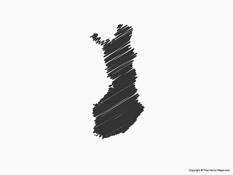 Free Vector Map of Finland - Sketch