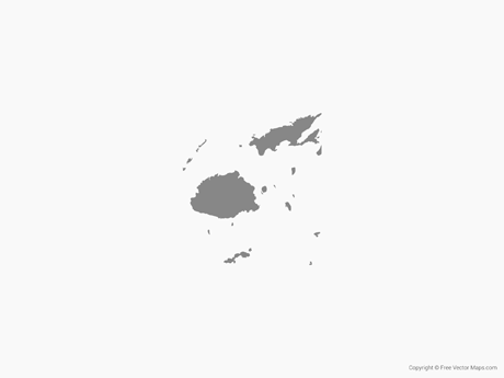 Free Vector Map of Fiji - Single Color