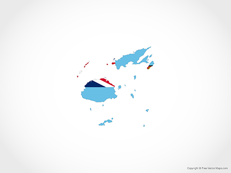 Free Vector Map of Fiji - Flag
