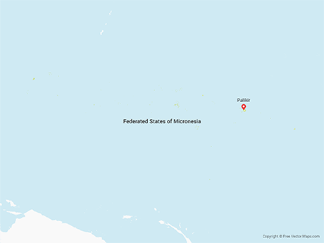 Free Vector Map of Federated States of Micronesia
