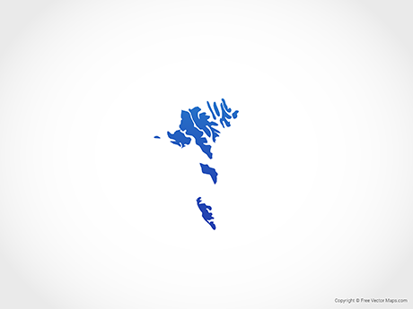 Free Vector Map of Faroe Islands - Blue
