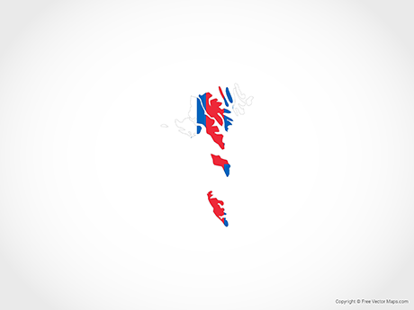 Free Vector Map of Faroe Islands -Flag