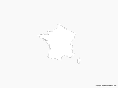 Free Vector Map of France - Outline
