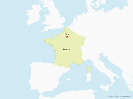 France Map Png.Vector Map Of France Free Vector Maps