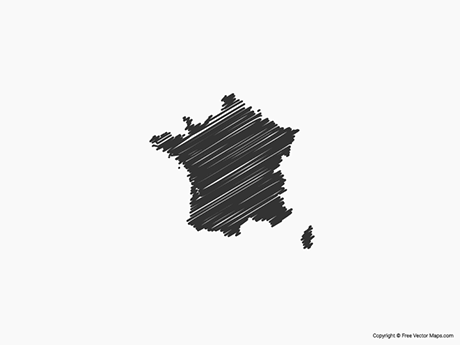 Free Vector Map of France - Sketch