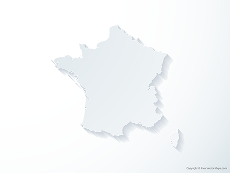 Free Vector Map of France - 3D