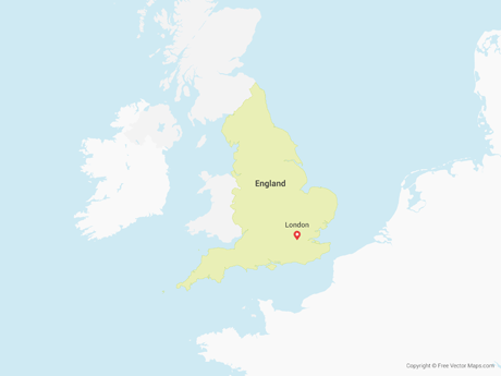 Free Vector Map of England