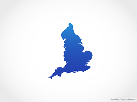 Free Vector Map of England - Blue