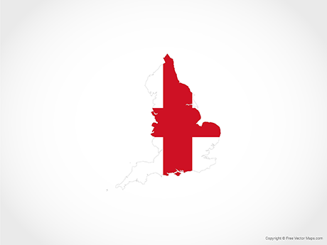 Free Vector Map of England - Flag