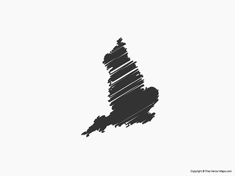 Free Vector Map of England - Sketch